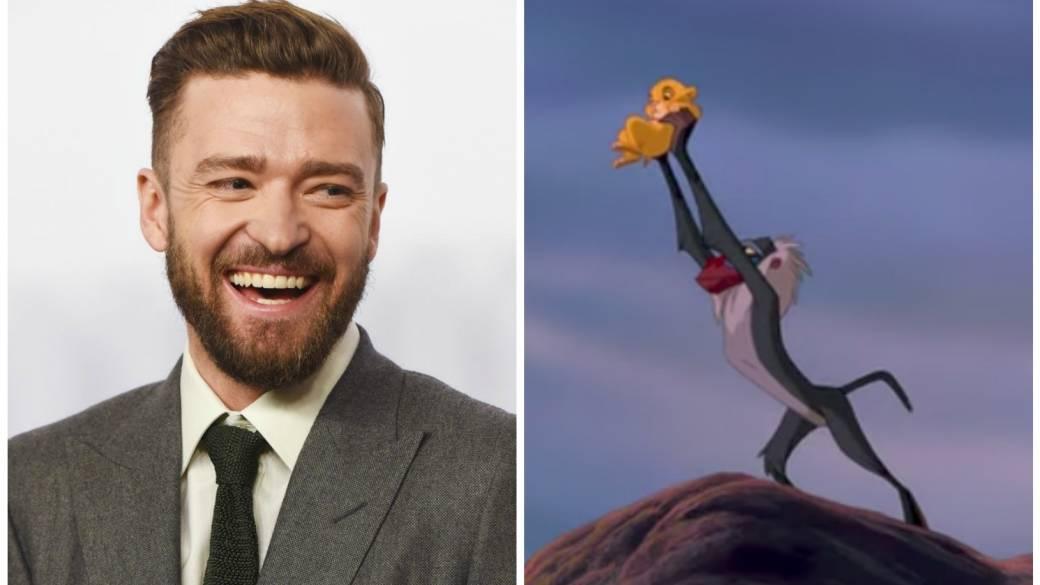 Justin Timberlake y la escena en que Rafiki levanta a Simba. Pulzo.com