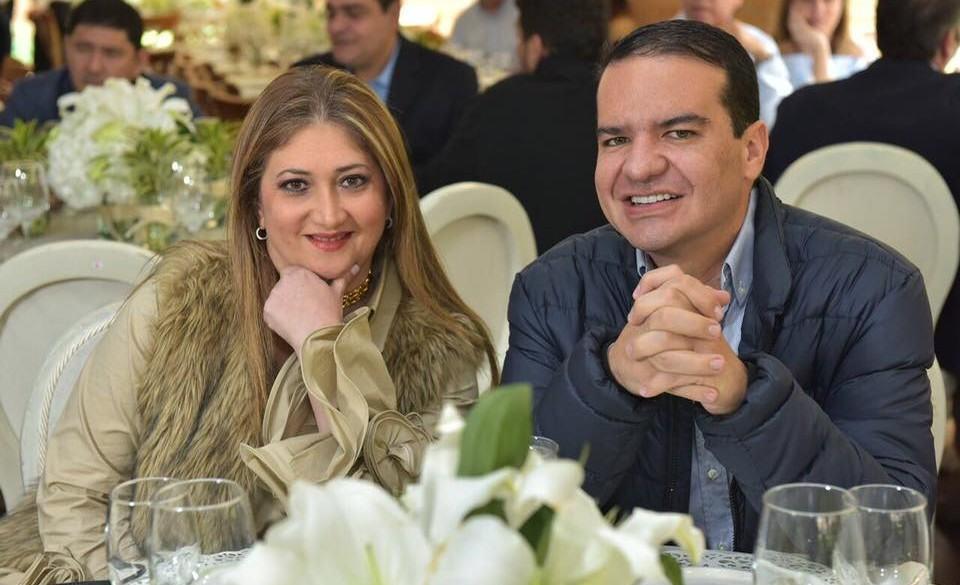 Basima Patricia Elías Nader junto a su esposo, Juan David Muskus Elias