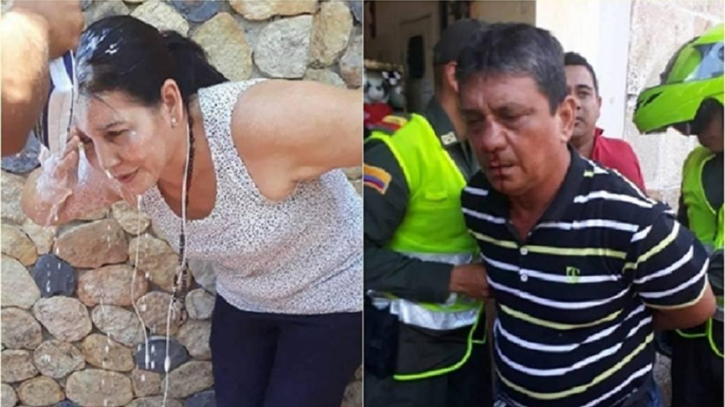 Luz Dary Hernández agredida por su exesposo