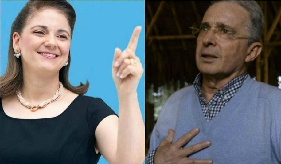 Campaña con la imagen de Uribe