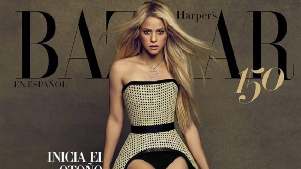 Shakira portada de revista Harpers Bazaar México