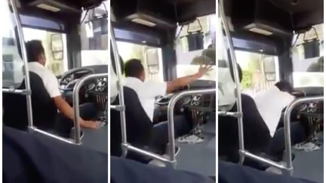 Conductor de bus despechado. Pulzo.