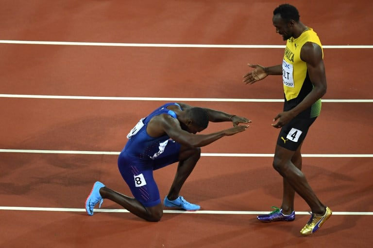 Justin Gatlin y Usain Bolt