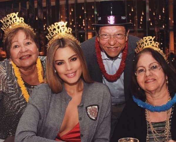 Ariadna Gutiérrez, exvirreina universal y su familia