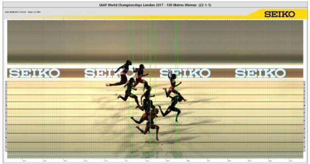 Fotofinish 100m mujeres
