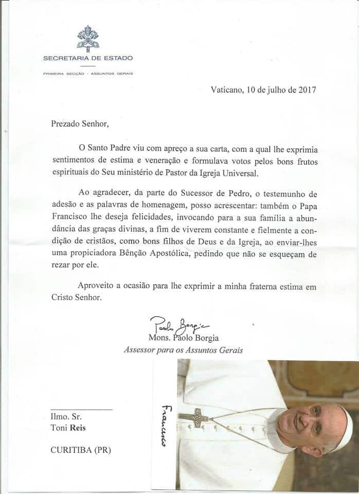 Carta enviada por el Vaticano