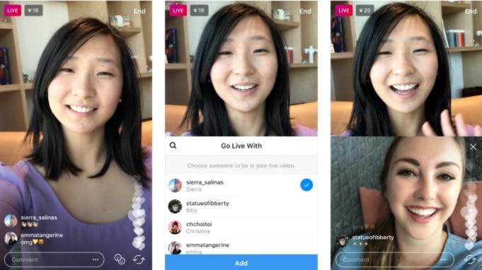 Transmisiones en vivo grupales de Instagram
