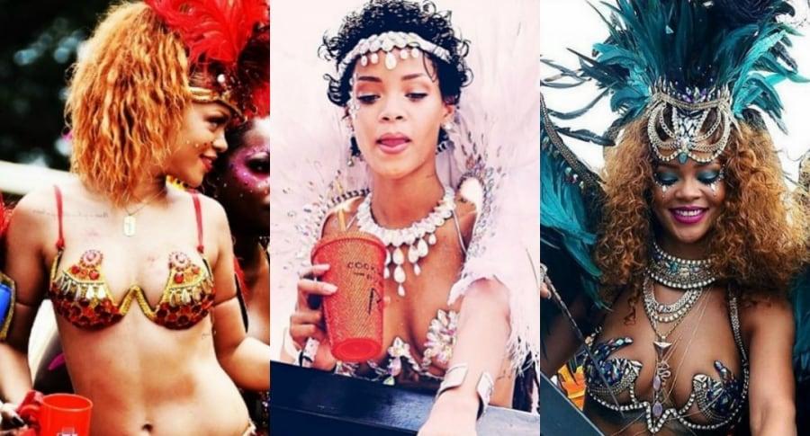 Sexis trajes de Rihanna Festival Crop Over Barbados