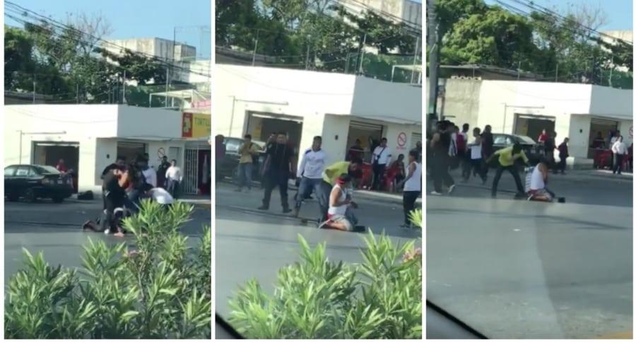Imágenes de asesinato de presunto ladrón en Cancún, México. Pulzo.