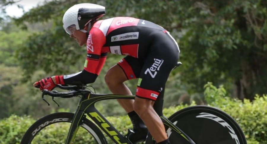 Alex Cano, ganador CRI Vuelta a Colombia