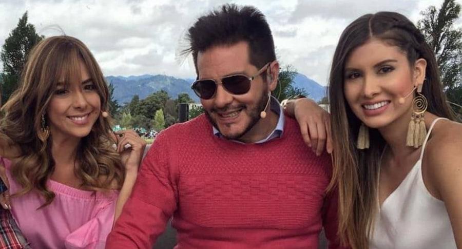 Sandra Mazuera, Marcelo Cezán y Mónica Molano, presentadores.