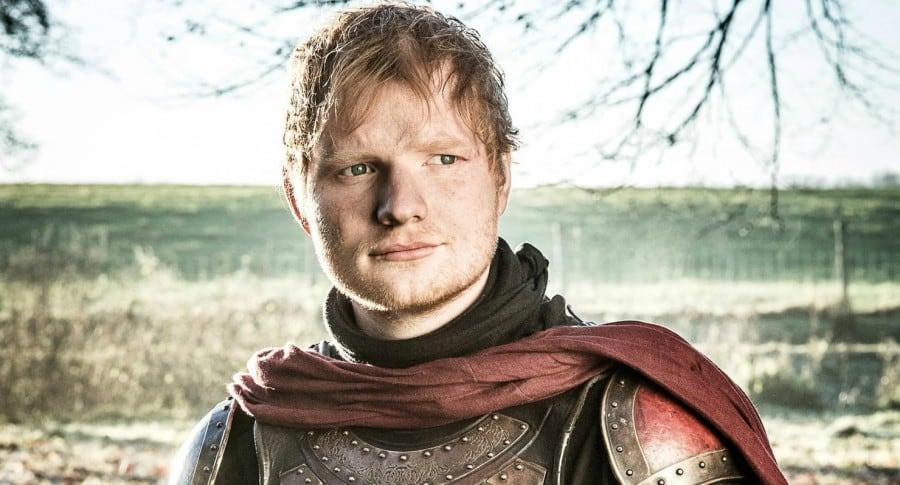 Ed Sheeran como un soldado Lannister. Pulzo.