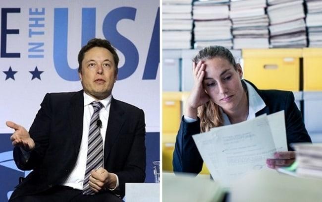 Elon Musk y secretaria