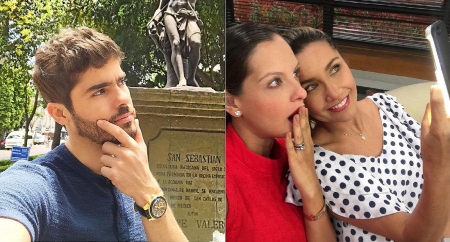 Jhoan Álvarez, exprotagonista de novela, y Laura Acuña, presentadora.