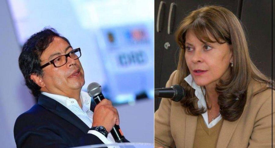 Gustavo Petro y Marta Lucía Ramírez
