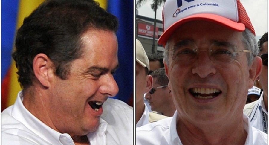Germán Vargas Lleras y Álvaro Uribe