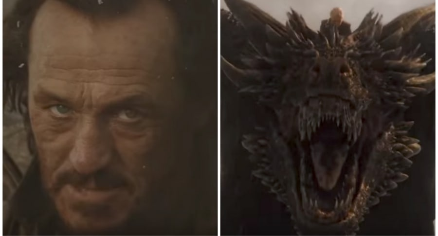 Bronn, Drogon y Daenerys. Pulzo.