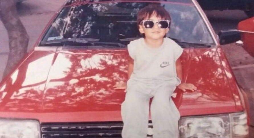 Foto de Ronald Mayorga, expresentador de 'La red', cuando era niño.