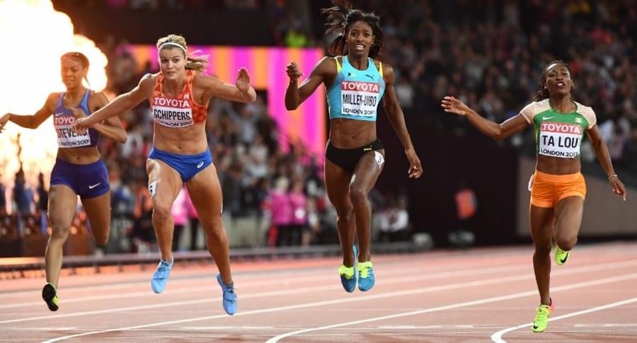 Final de 200 metros femenino en Mundial de Atletismo