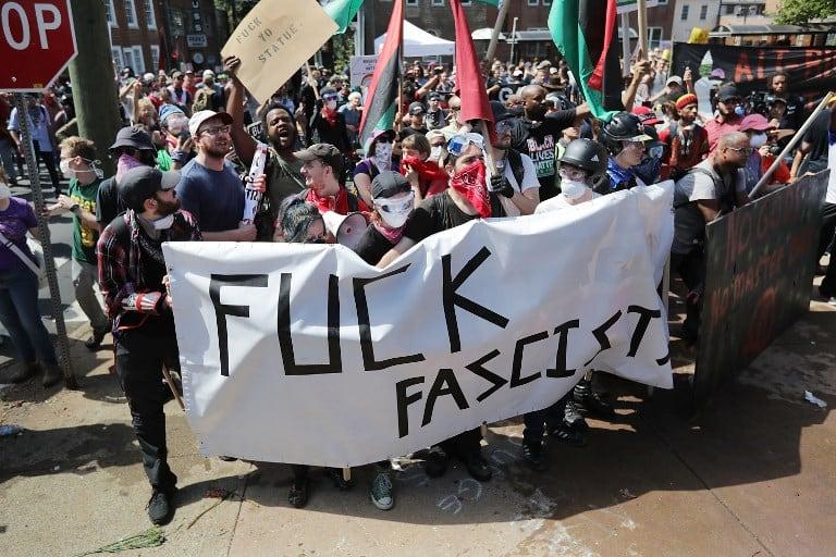 Protesta en Charlottesville, Estados Unidos. Pulzo.
