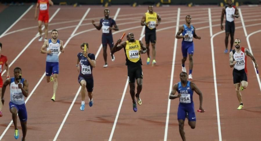 Calambre sufrido por Bolt