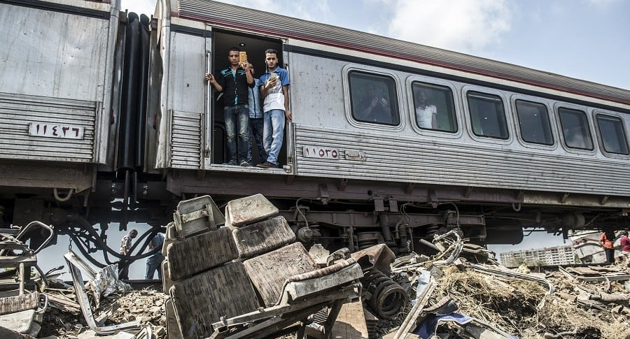 Accidente de trenes en Egipto