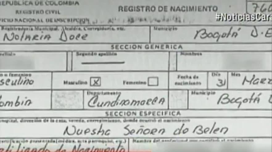 Certificado de nacimiento, David Wheeler