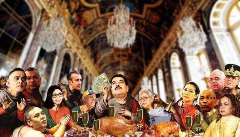 Imagen de 'La última cena' con oficialistas venezolanos