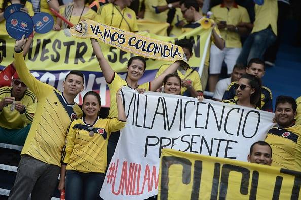 Hinchas colombianos en el Metropolitano