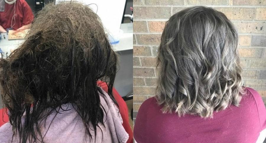 Estilista arregló cabello de joven con depresión