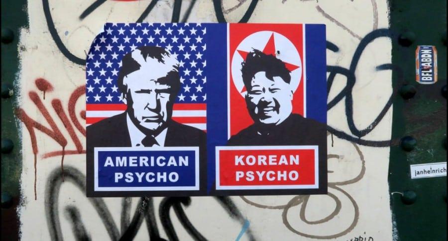 Pinturas urbanas sobre crisis entre Estados Unidos y Corea del Norte