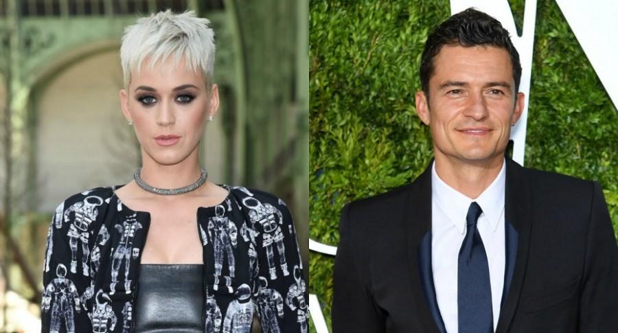 Katy Perry y Orlando Bloom juntos en concierto de Ed Sheeran