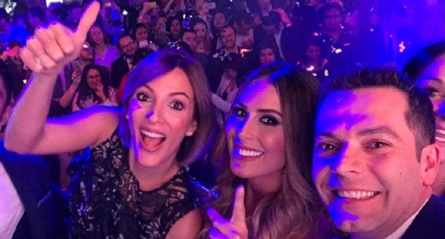 Yalena Jácome, Carolina Soto e  Iván Lalinde, presentadores.