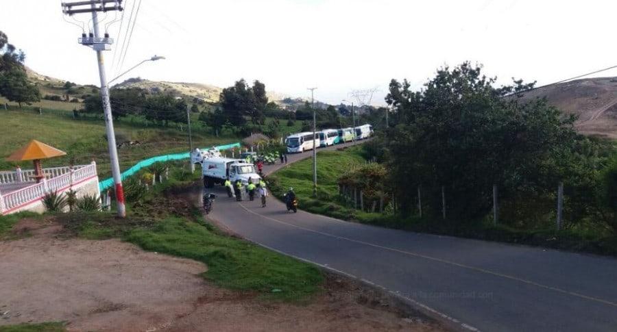 Protestas en relleno Doña Juana