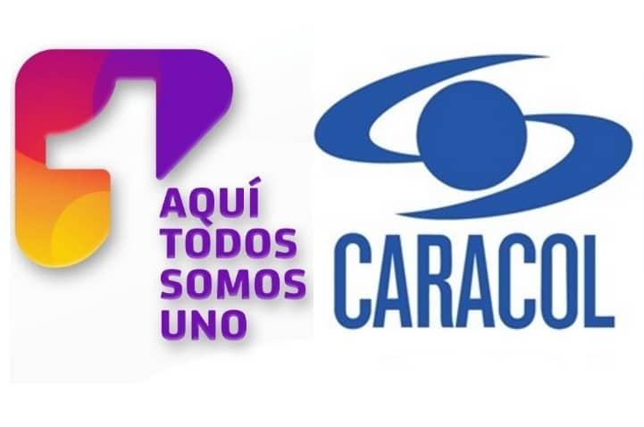 Logos Canal 1, Caracol y RCN.