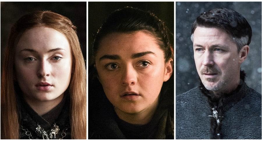 Sansa, Arya y Meñique. Pulzo.