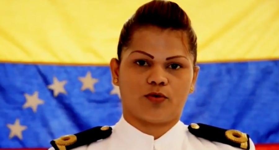 Militar venezolana que desertó de dictadora.