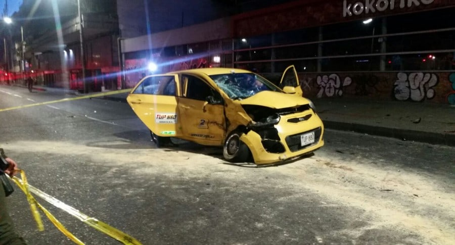 Taxi accidente