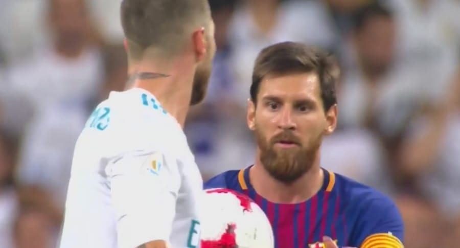 Sergio Ramos y Lionel Messi