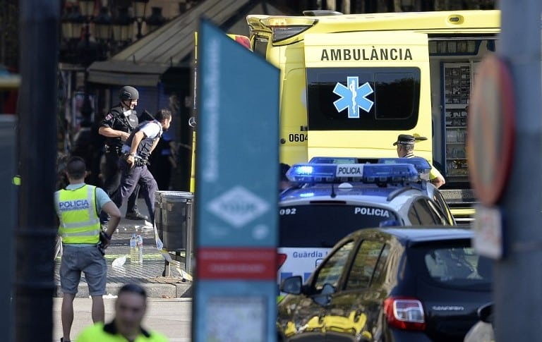 Atentado terrorista en Barcelona, España