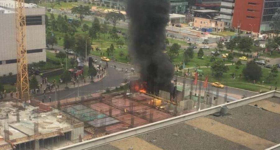 Incendio cerca del centro comercial Gran Estación