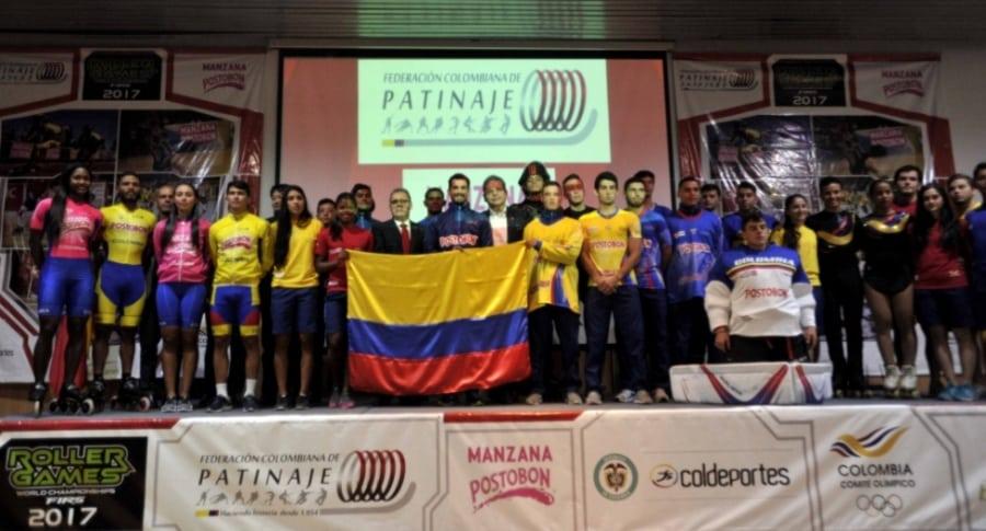 Delegación de Colombia para los Roller Games