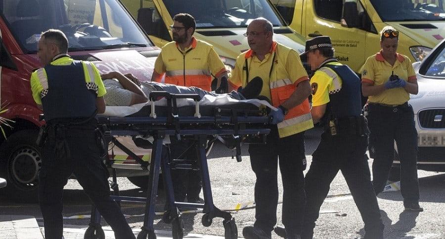 Un herido por atentado en Barcelona.  Imagen de ilustración