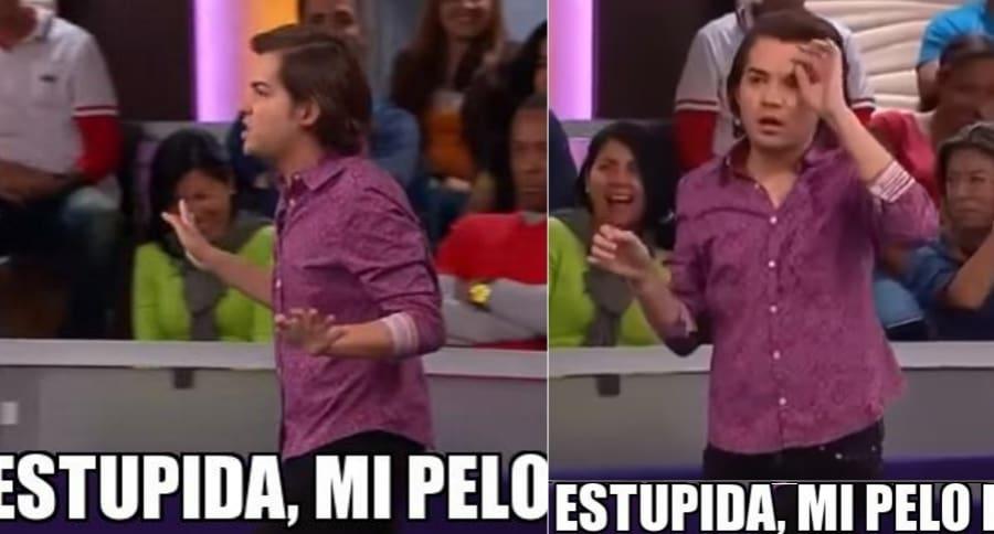 """Jay Colindres, 'Esteban' en 'Caso cerrado', y su meme de """"estúpida, mi pelo""""."""