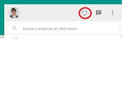 Estados en WhatsApp Web 2
