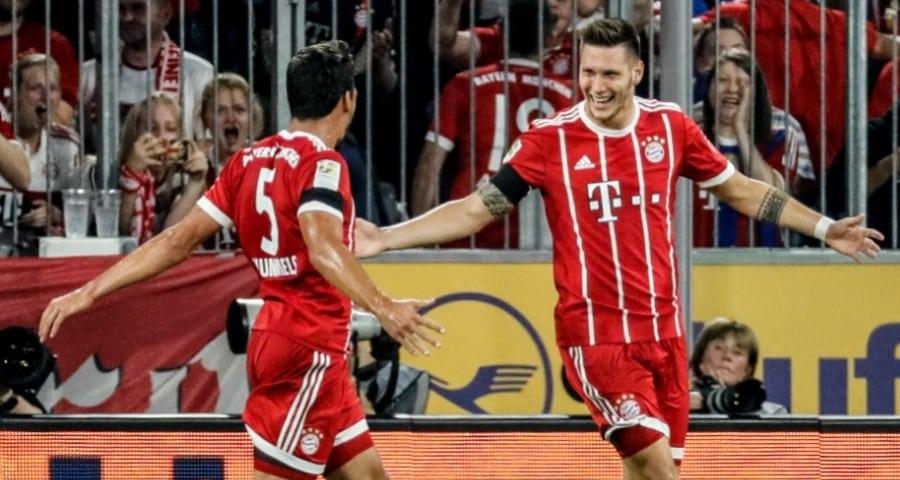 Celebración del primer gol del Bayern Múnich