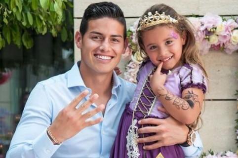 En Foto El Reencuentro De James Rodríguez Con Su Hija Salomé