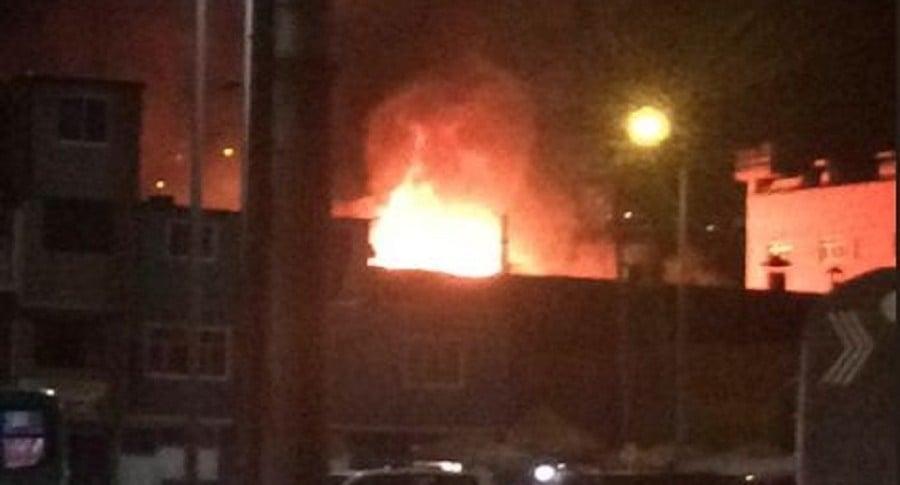 Incendio cerca de Protabaco