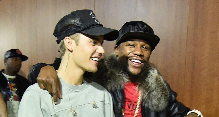 Justin Bieber y Floyd Mayweather