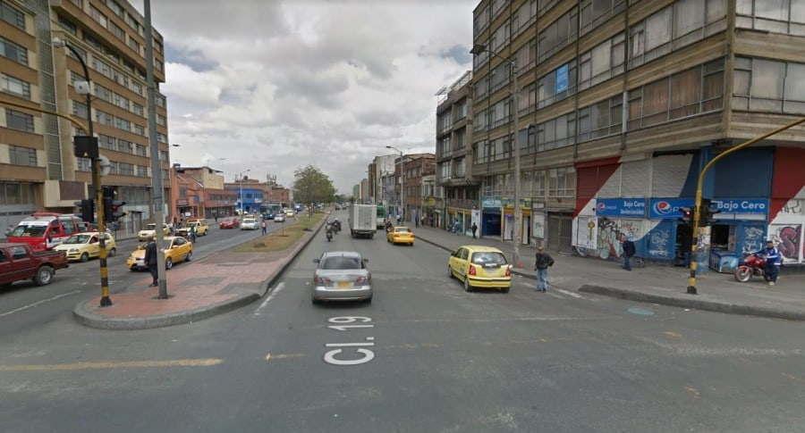 Avenida calle 19, zona de tolerancia de Bogotá